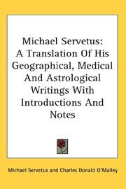 Cover of: Michael Servetus