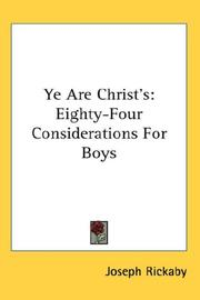 Cover of: Ye Are Christ