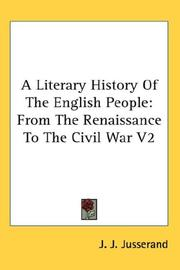 Cover of: A Literary History Of The English People | J. J. Jusserand