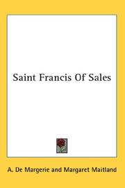 Cover of: Saint Francis Of Sales | A. De Margerie