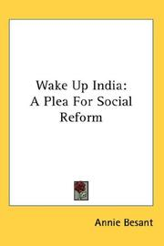 Cover of: Wake Up India: A Plea For Social Reform