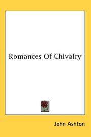 Cover of: Romances Of Chivalry