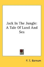 Cover of: Jack In The Jungle | P. T. Barnum