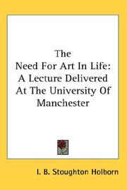 Cover of: The Need For Art In Life
