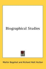 Cover of: Biographical studies