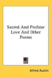 Cover of: Sacred And Profane Love And Other Poems