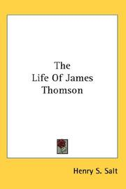 Cover of: The Life Of James Thomson