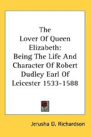 Cover of: The Lover Of Queen Elizabeth | Jerusha D. Richardson