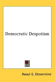 Cover of: Democratic Despotism