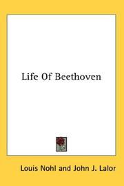 Cover of: Life Of Beethoven | Louis Nohl