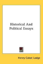 Cover of: Historical And Political Essays