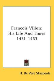 Cover of: Francois Villon
