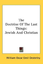 Cover of: The Doctrine Of The Last Things