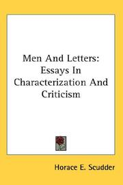 Cover of: Men And Letters