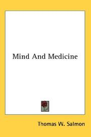 Cover of: Mind And Medicine
