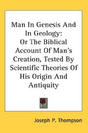 Cover of: Man in Genesis and in geology