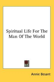 Cover of: Spiritual Life For The Man Of The World