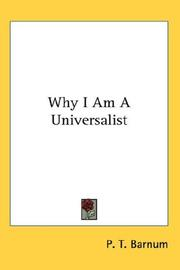 Cover of: Why I Am A Universalist