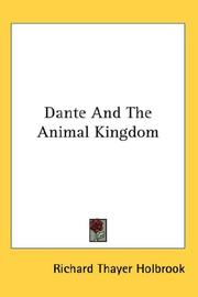 Cover of: Dante and the animal kingdom