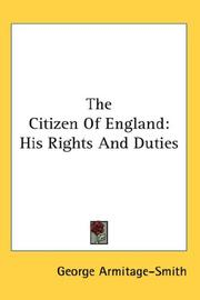 Cover of: The Citizen Of England | George Armitage-Smith