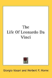Cover of: The Life Of Leonardo Da Vinci