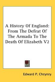 Cover of: A History Of England | Edward P. Cheyney