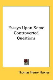 Cover of: Essays upon some controverted questions