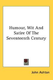 Cover of: Humour, Wit And Satire Of The Seventeenth Century