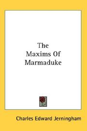 Cover of: The Maxims Of Marmaduke