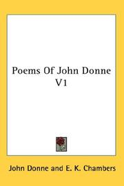 Cover of: Poems Of John Donne V1