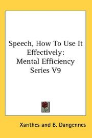 Cover of: Speech How to Use It Effectively