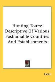 Cover of: Hunting Tours