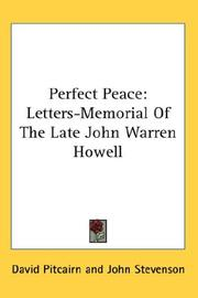 Cover of: Perfect Peace | David Pitcairn