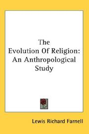 Cover of: The evolution of religion