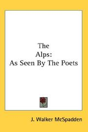 Cover of: The Alps: As Seen By The Poets