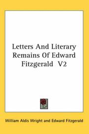 Cover of: Letters And Literary Remains Of Edward Fitzgerald  V2