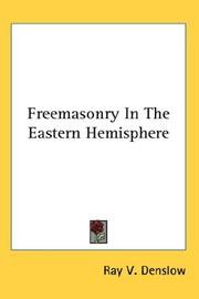 Cover of: Freemasonry In The Eastern Hemisphere
