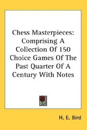 Cover of: Chess Masterpieces