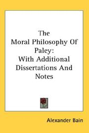 Cover of: The Moral Philosophy Of Paley