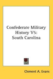 Cover of: Confederate Military History V5