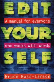 Cover of: Edit yourself