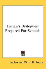Cover of: Lucian's Dialogues