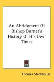 Cover of: An Abridgment Of Bishop Burnet's History Of His Own Times