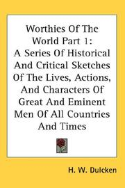 Cover of: Worthies Of The World Part 1