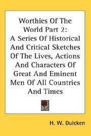 Cover of: Worthies Of The World Part 2