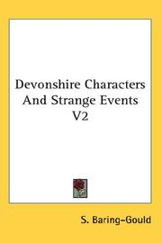 Cover of: Devonshire Characters And Strange Events V2 | Sabine Baring-Gould