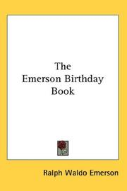 Cover of: The Emerson Birthday Book