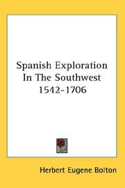 Cover of: Spanish exploration in the Southwest, 1542-1706