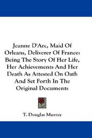 Cover of: Jeanne D