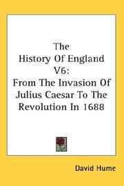 Cover of: The History Of England V6